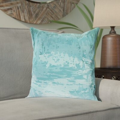 Mont-Dore 100% Cotton Throw Pillow Cover Size: 18 H x 18 W x 1 D, Color: BlueGreen