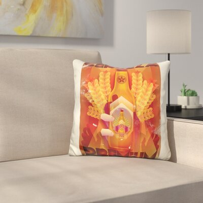 Cerveza Throw Pillow