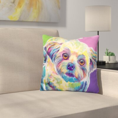 Maltipoo Ziggy Throw Pillow