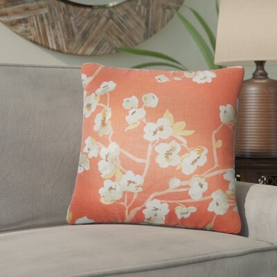Arnot Floral Throw Pillow Color: Papaya