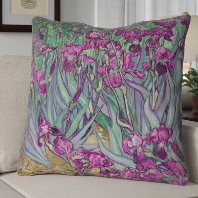 Morley Concealed Irises Euro Pillow Color: Pink
