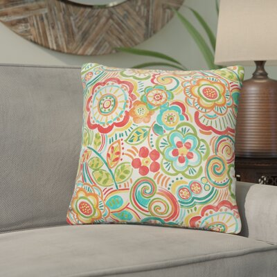 Lucie Outdoor Throw Pillow Size: 18 H x 18 W, Color: Green / Red