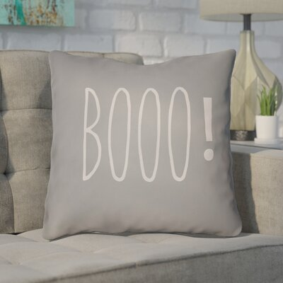 Outdoor Throw Pillow Color: Gray, Size: 18 H x 18 W x 4 D