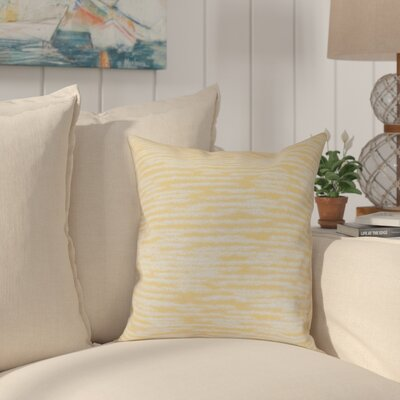 Hancock Marled Knit Geometric Print Throw Pillow Size: 16 H x 16 W, Color: Yellow