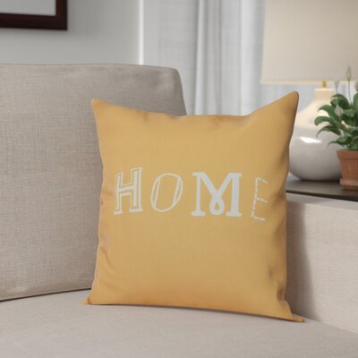 Scotland Home Throw Pillow Size: 16 H x 16 W, Color: Yellow