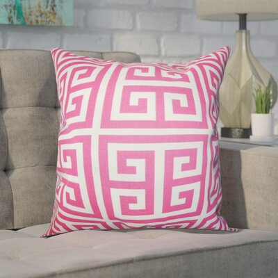 Blevins 100% Cotton Throw Pillow Color: Candy Pink, Size: 22 x 22
