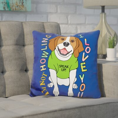 Coria Beagle Throw Pillow