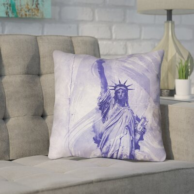 Houck Watercolor Statue of Liberty Square Throw Pillow