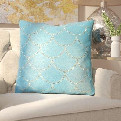 Adison Diamond Scale Throw Pillow Color: Caribbean Sea