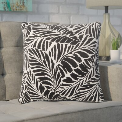 Pamella Floral Outdoor Throw Pillow Color: Black, Size: 18 H x 18 W