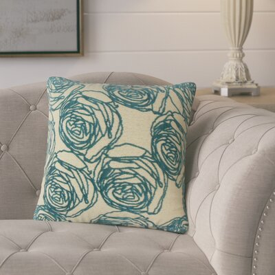 Beglin Floral Throw Pillow Color: Teal