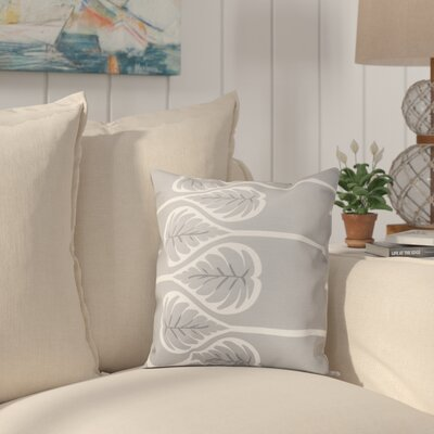 Hilde 1 Floral Print Throw Pillow Size: 18 H x 18 W, Color: Gray
