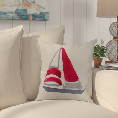 Crider Sail Away Print Indoor/Outdoor Throw Pillow Color: Ivory, Size: 16 x 16