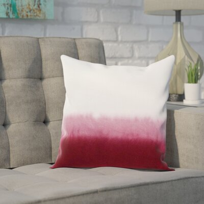 Lauralee Cotton Pillow Cover Color: Red