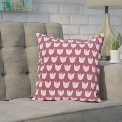 Sharrow Throw Pillow Size: 16 H x 16 W, Color: Purple / Pink