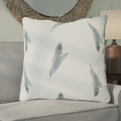 Arlo Feather Floral Throw Pillow Size: 16 H x 16 W, Color: Green