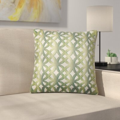 Strohm Geometric Throw Pillow Color: Jade