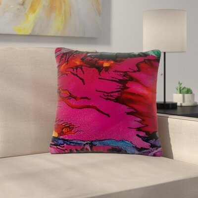 Abstract Anarchy Design Marianas Trench Tags Outdoor Throw Pillow Size: 16 H x 16 W x 5 D
