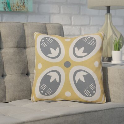 Mazee Decorative Holiday Geometric Print Outdoor Throw Pillow Size: 18 H x 18 W, Color: Gold