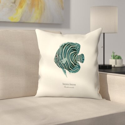 Semi Circle Ange Fish Throw Pillow Size: 16