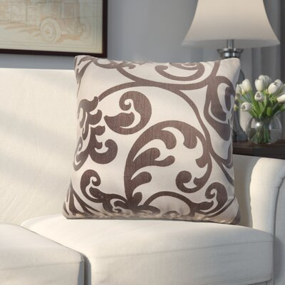 Chalfont Throw Pillow Color: Chocolate