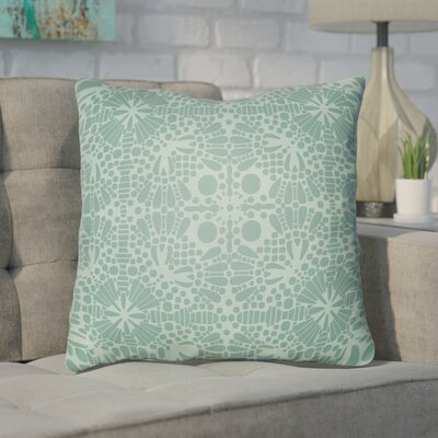 Zanuck Throw Pillow Size: 20 H x 20 W x 4 D, Color: Jade