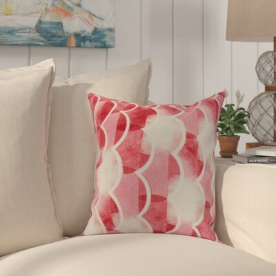 Crider Geometric Print Indoor/Outdoor Throw Pillow Color: Red, Size: 20 x 20