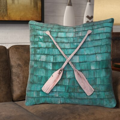 Brushton Rustic Oars Square Euro Pillow with Zipper