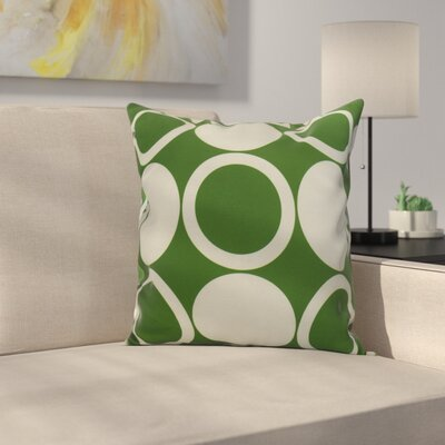 Meekins Mod Circles Geometric Print Indoor/Outdoor Throw Pillow Color: Green, Size: 18 x 18