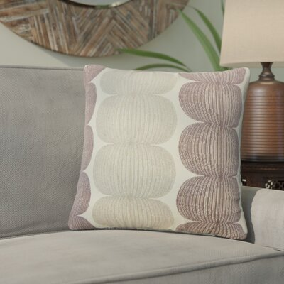 Guss Graphic Throw Pillow Color: Plum