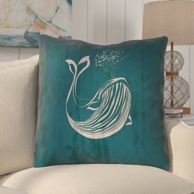 Lauryn Rustic Whale 100% Cotton Euro Pillow