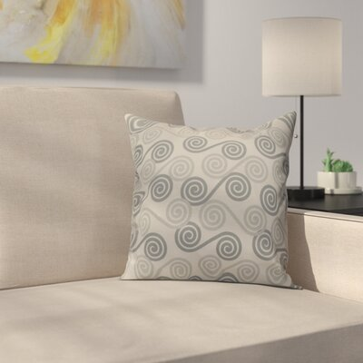 Nikkle Rip Curl Throw Pillow Size: 18 H x 18 W, Color: Gray