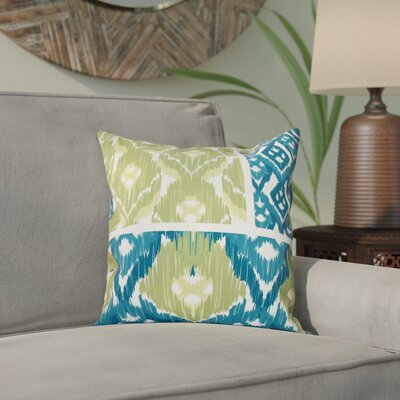 Meetinghouse Free Spirit Geometric Print Throw Pillow Size: 26 H x 26 W, Color: Teal