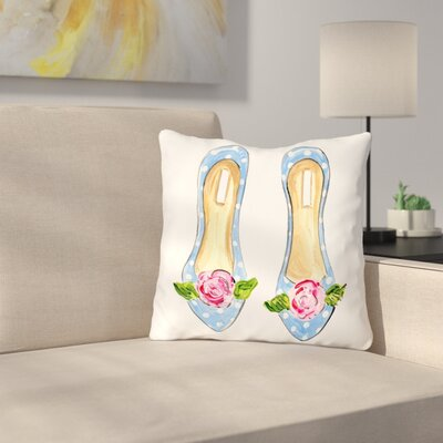 Brittingham Peony Flats Throw Pillow Size: 18 H x 18 W x 3 D