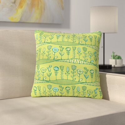 Holly Helgeson Hatties Garden Floral Outdoor Throw Pillow Size: 18 H x 18 W x 5 D
