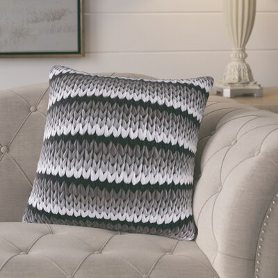Moreland Handloom Square Throw Pillow Color: Black