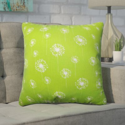 Wyona Floral Cotton Throw Pillow Color: Green