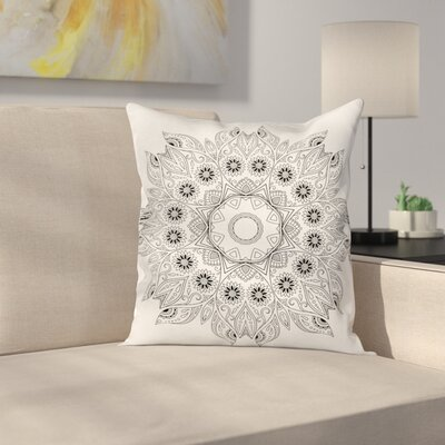 Floral Mandala Square Pillow Cover Size: 18 x 18