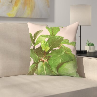 Fiddle Leaf Fig Throw Pillow Size: 14 x 14
