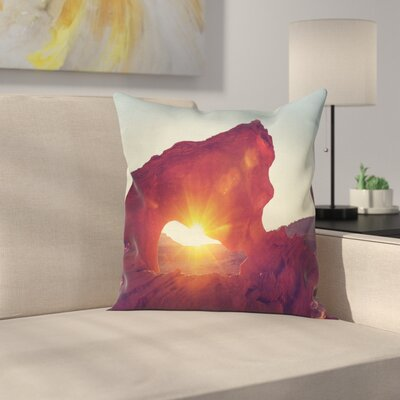 Nature Sunrise American Desert Square Pillow Cover Size: 18 x 18