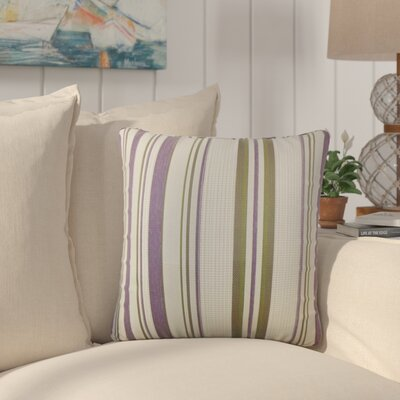 Alberta Stripes Throw Pillow Color: Orchid