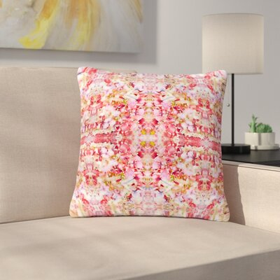 Carolyn Greifeld Floral Reflections Outdoor Throw Pillow Color: Pink/Red, Size: 16 H x 16 W x 5 D