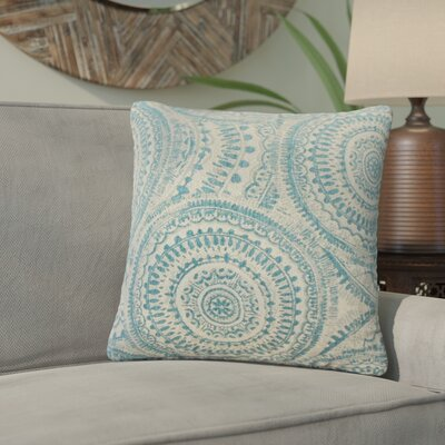 Lau Graphic Throw Pillow Color: Teal