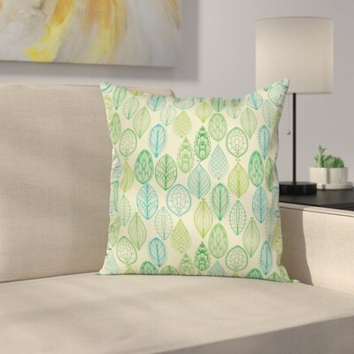 Leaves Square Pillow Cover Size: 16 x 16