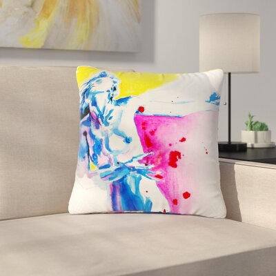 Cecibd Painful Love Outdoor Throw Pillow Size: 18 H x 18 W x 5 D