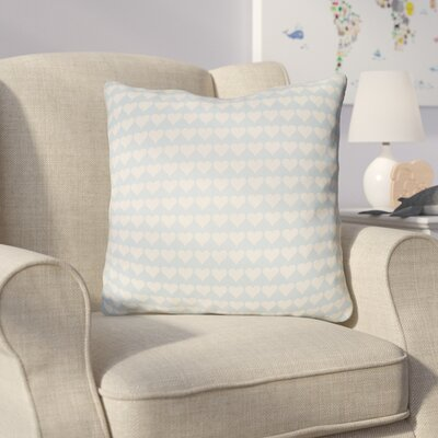 Colinda Square Throw Pillow Size: 22 H �x 22 W x 5 D, Color: Light Blue