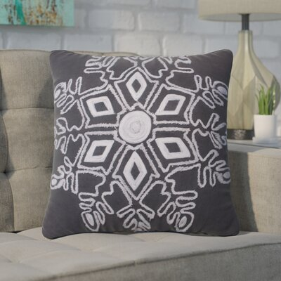Annunziata Winter Snowflake Throw Pillow