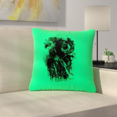 BarmalisiRTB Gasmask Abstract Outdoor Throw Pillow Size: 16 H x 16 W x 5 D