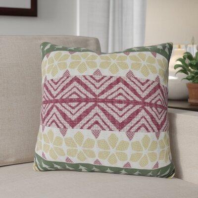 Fair Isle Throw Pillow Size: 18 H x 18 W, Color: Green