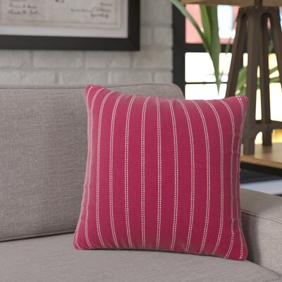 Jonathan Burlap Brick Throw Pillow Size: 20 H x 20 W x 6 D, Color: Brick